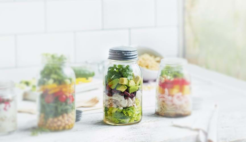 Mexican salad jar