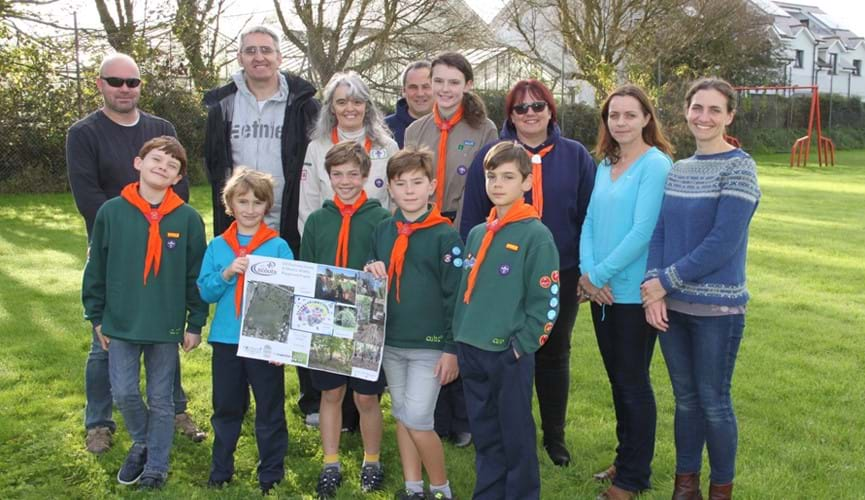 Scout group to develop a community wildlife playground thanks to The Channel Islands Co-operative Society