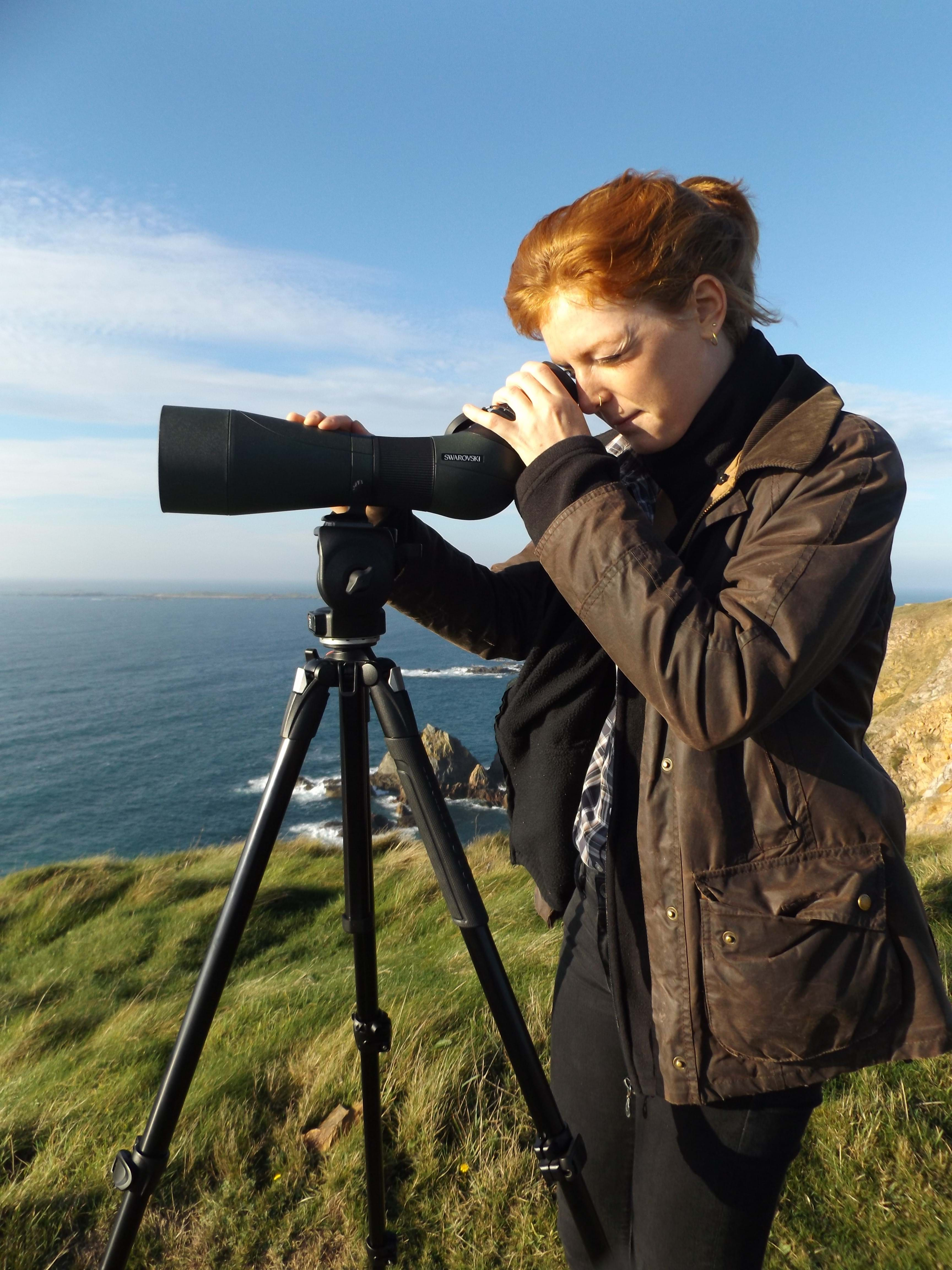 The Alderney Wildlife Trust buys new telescope to aid seabird monitoring in the Channel Islands