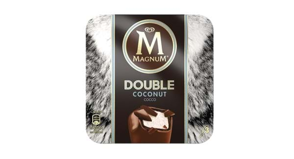 HALF PRICE | Wall's Magnum 3 Pack Double Coconut/ Raspberry