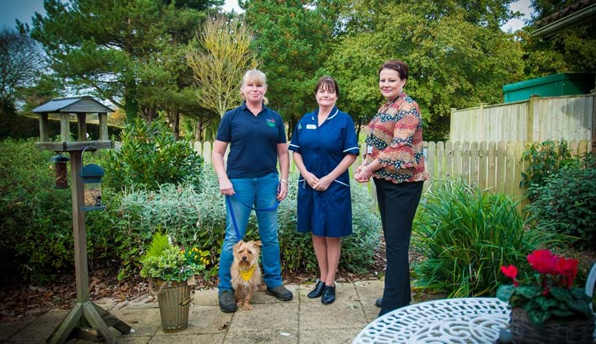 Wellbeing of patients will be improved thanks to enhanced garden areas at St Saviour's Hospital