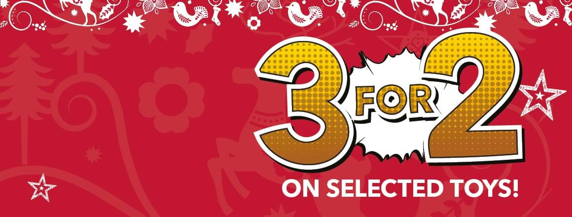 3 for 2 on selected toys