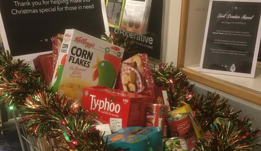 Food donation appeal helps those in need this Christmas