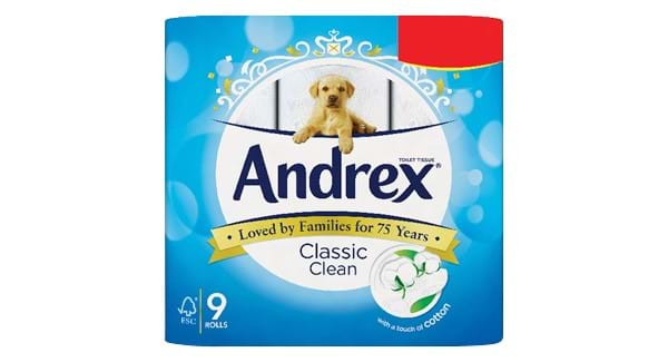 GREAT VALUE | Andrex Toilet Tissue Pure White/ Gentle Clean