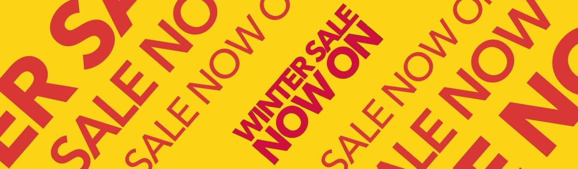 Grab yourself a bargain with our Winter Sale