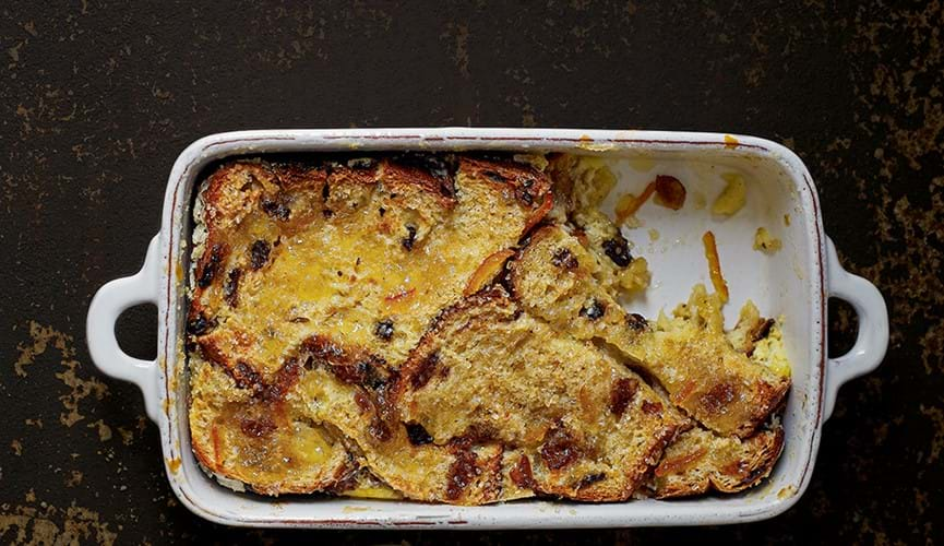 Bread and brandy butter pudding