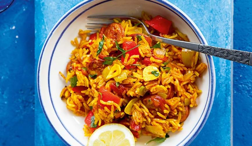 Easy paella style rice channel islands co operative easy paella style rice forumfinder Images