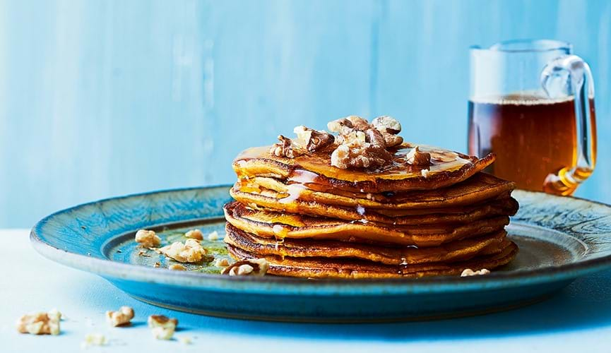 Ginger sweet potato pancakes