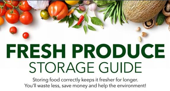Fresh produce storage guide