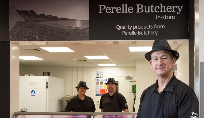 Award-winning Perelle Butchery opens counter at Grand Marché store