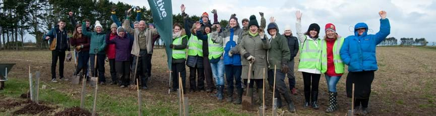 Tree planting with 'Birds on the Edge'