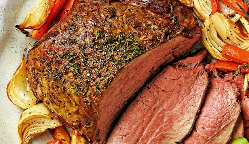 Irresistible British roast beef