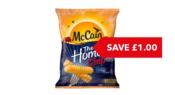 SAVE £1 | McCain Home Chips Crinkle Cut 900g