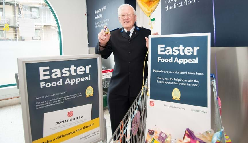 Shoppers donate food to vulnerable islanders for The Channel Islands Co-operative Society Easter campaign