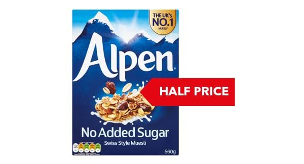 HALF PRICE | Alpen Museli Original / No Added Sugar