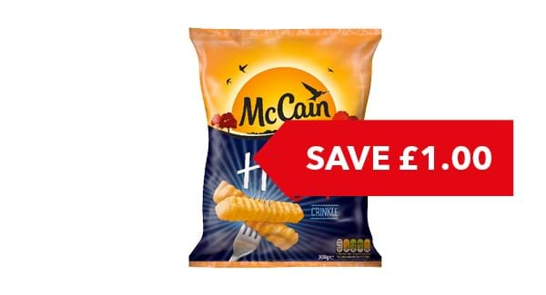 SAVE £1|McCain Home Chips Crinkle Cut 900g