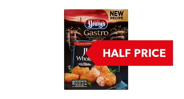 HALF PRICE | Young's Jumbo Wholetail Scampi 220g