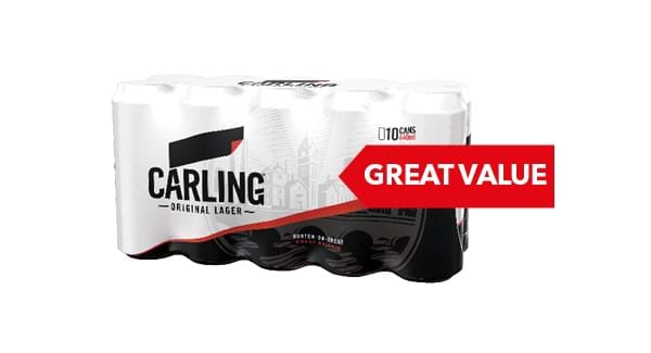 GREAT VALUE|Carlsberg/Carling/Foster's/John Smith's/Guinness