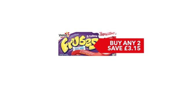 BUY ANY 2 FOR £3.15 | Yoplaït Petits Filous / Frubes