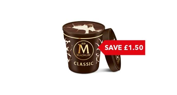 SAVE £1.50 | Magnum Ice Cream Tub 440ml