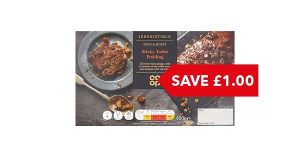 SAVE £1 | Co-op Irresistible Sticky Toffee Sponge Pudding