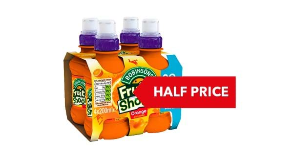 HALF PRICE | Robinsons Fruit Shoot 4 x 200ml