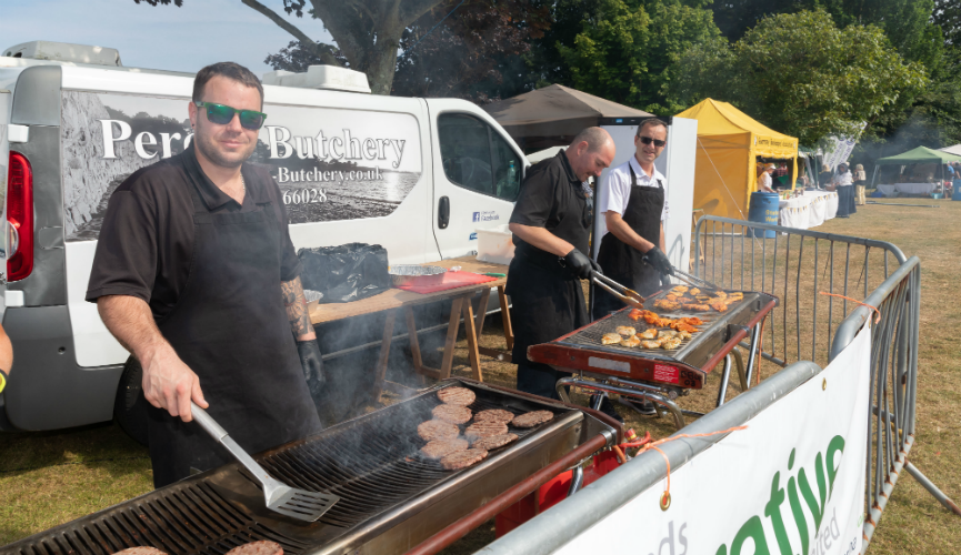 Perelle Butcherry with their BBQ at Le Viaer Marchi