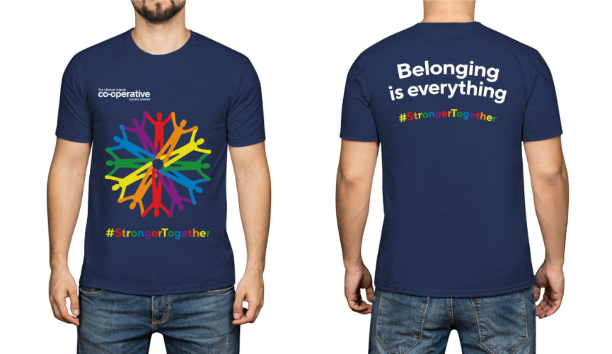 Our CI Pride 2018 t-shirt design
