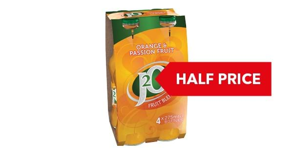 HALF PRICE | Britvic J2O Fruit Juice Drink 4 x 275ml