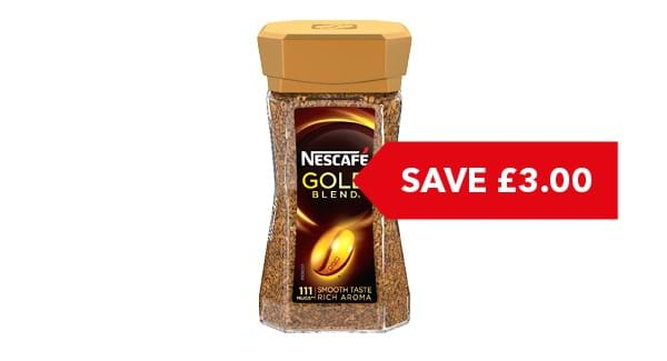 SAVE £3 | Nescafé Gold Blend/Crema Coffee 200g