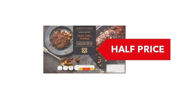 HALF PRICE | Co-op Irresistible Sticky Toffee Sponge Pudding