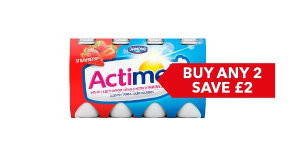 BUY ANY 2 SAVE £2 | Danone Actimel 8 x 100g