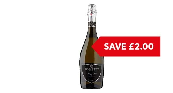 SAVE £2 | Adeletto Prosecco 75cl
