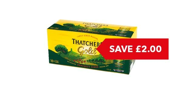 SAVE £2 | Thatchers Gold 10 x 440ml