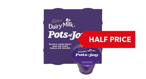 HALF PRICE | Cadbury Pots of Joy Dairy Milk / Caramel