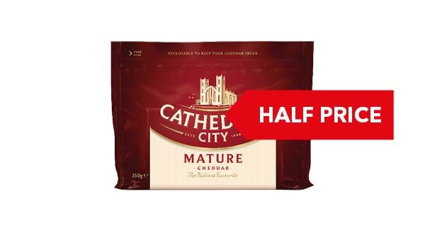 HALF PRICE | Cathedral City Mature/ Lighter Cheddar 350g