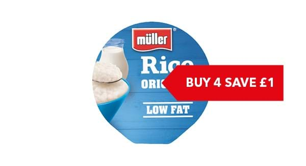 BUY ANY 4 SAVE £1| Müller Fruit/ Crunch/ Light/ Corner/ Rice