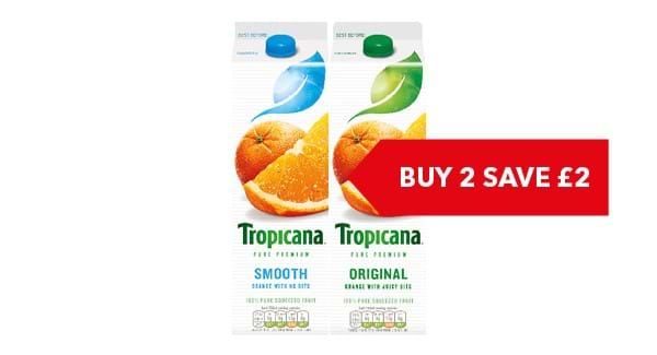 BUY ANY 2 SAVE £2 | Tropicana 850ml / 950ml