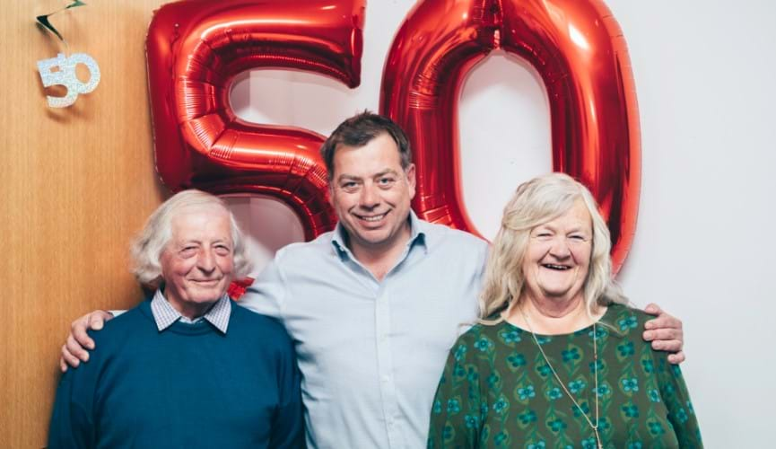 The Channel Islands Co-operative Society celebrate a fifty-year partnership