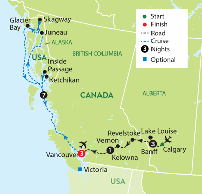 Canadian Rockies and an Alaskan Cruise - Travelsphere | Channel ...