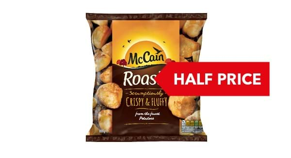 HALF PRICE | McCain Roasts 800g