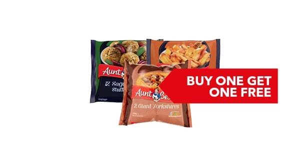 BUY ONE GET ONE FREE | Selected Aunt Bessie's 230g-700g