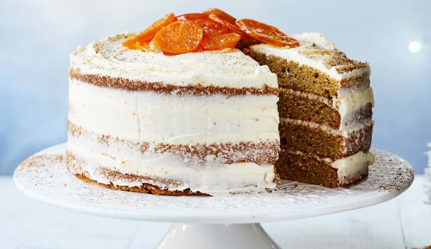 Frosted clementine cake