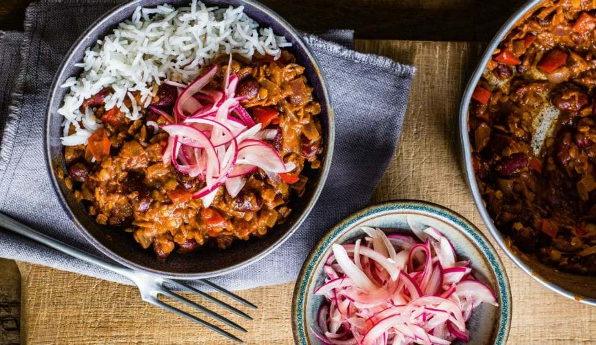 Vegan lentil chilli