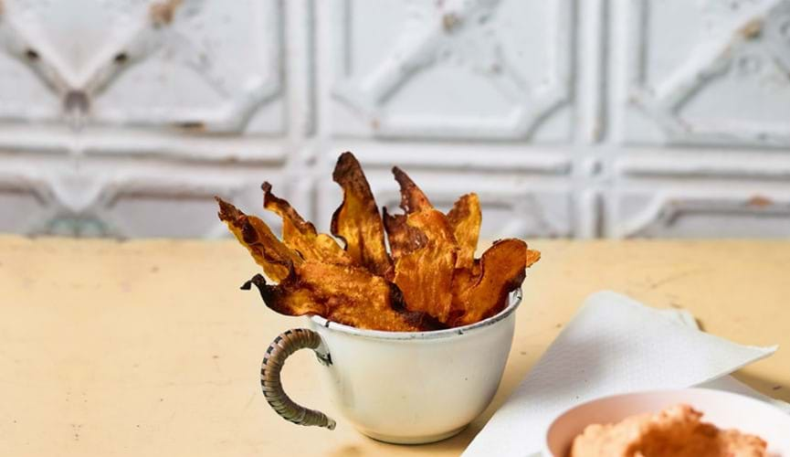 Carrot and sweet potato crisps