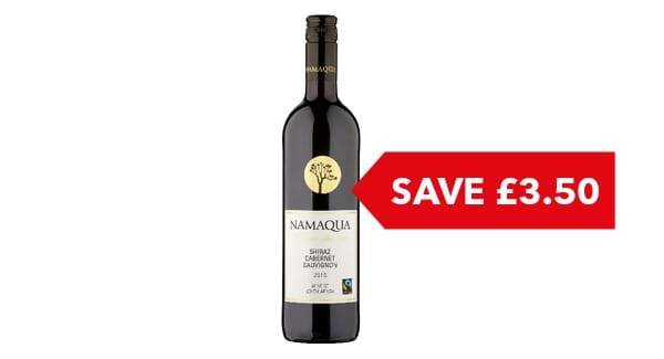 SAVE £3.50 | Namaqua Reserve Selection Shiraz Cabernet 75cl