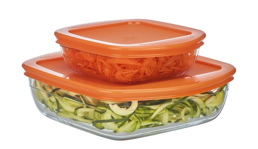Module - Set of 2 Square Dishes with Lids