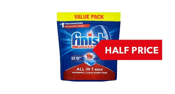 HALF PRICE | Finish Dishwasher Tablets All In 1 Max Original