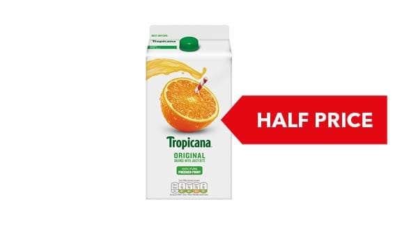 HALF PRICE | Tropicana Pure Premium Orange Juice 1.4 Litre