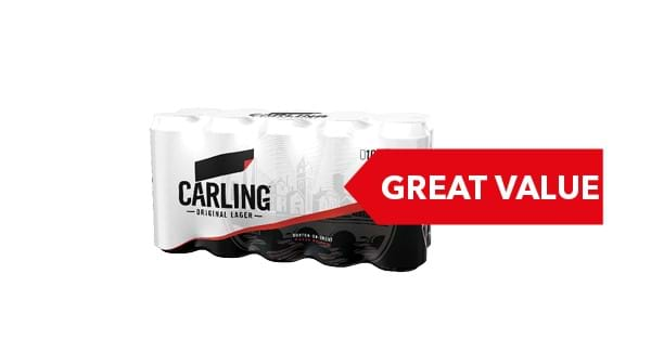 GREAT VALUE | Carling 10 x 440ml
